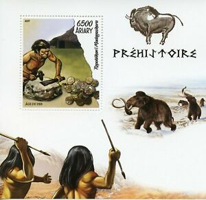 Madagascar Stamps 2019 MNH Prehistoric Times Mammoths Iron Age 1v S/S