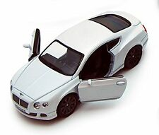 New Kinsmart 2012 Bentley Continental GT Speed Diecast Model Toy Car 1:38 White