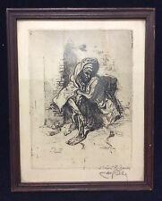 Alméry Lobel-Riche (1880-1950) Orientaliste Maroc Fes 1919 le lepreux AL- MAGHRI