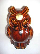 """Dartmouth Pottery England Brown Glaze Owl Coin Bank Piggy Bank 8.5"""""""