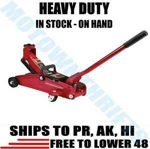 NEW 2 Ton Heavy Duty Steel Compact Trolley Pump Floor Jack Portable Lightweight