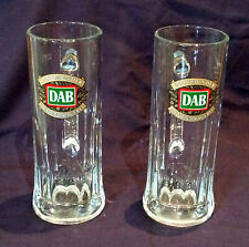 2 x DAB 500ML BEER GLASS STEIN WITH HANDLE