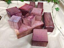 "Purpleheart Tazón en Blanco/Madera Torneado/maderas exóticas 6x6x4"""
