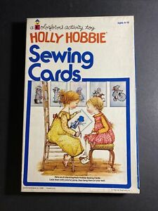 HOLLY HOBBIE Sewing Cards - A Colorforms Activity Toy, American Greetings, Used