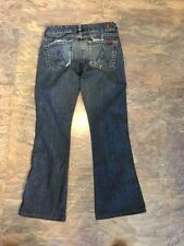 """7 SEVEN FOR ALL MANKIND jeans womans 24 x 27 """"A"""" Pocket"""