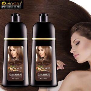 Natural Organic Oil Essence Instant Hair Dye Shampoo Hair Color Cream women