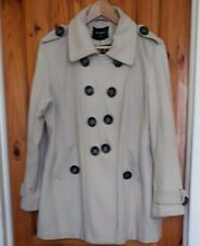 PRIMARK, ATMOSPHERE Double Breasted Cream Coat, Womens' Size 16
