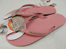 RAINBOW WOMENS CRYSTAL COLLECTION PREMIER LEATHER 401ALTSN PINK SIZE L