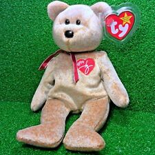 Ty Beanie Baby 1999 SIGNATURE BEAR Plush Toy RARE NEW RETIRED - Free Shipping