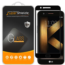 2x Supershieldz LG K20 Plus  Full Cover Tempered Glass Screen Protector (Black)