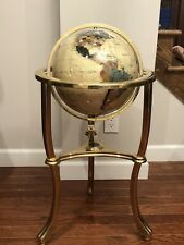 "Alexander Kalifano Vtg Gold Opelite Mother of Pearl Floor 34"" World Globe $$$$"