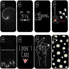 Cool Painting TPU Black Soft Phone Case Cover FOR iPhone 11 Pro 5 6 7 8 XsMax XR