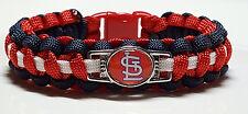 "St. Louis Cardinals ""Ball Cap Logo; STL"" Handmade Custom Sized Paracord Bracelet"