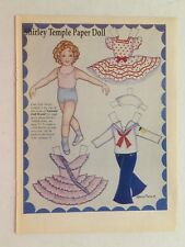 """1989 """"Shirley Temple Paper Doll"""" 1 page - Magazine Paper Doll by Loraine Morris"""