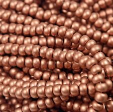"Czech Glass Seed Beads Size 6/0 "" METALLIC SILK COPPER "" Strands"