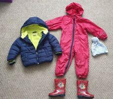 Baby Boy Puddle Tuta, Paw Patrol Wellies Taglia 5 e caldo giacca età 1.5 -2 ANNO
