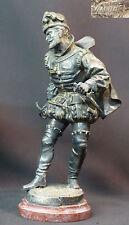 N2 1890 superbe statue bronze RAPHAEL sculpture mousquetaire en arme épée 28c3kg