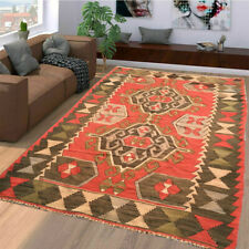 194 Vintage Turkish Kilim Handmade Anatolian Rug Floor Home Decor Floral Rug 6x4