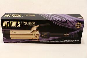 "Hot Tools Professional HT1111 Curling Iron Multi-Heat 2"" 24K Gold (New Open Box)"