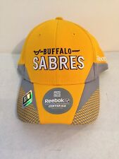 Buffalo Sabres Reebok Center Ice 2013 Practice Stretch fit hat S/M Yellow