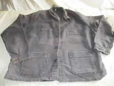 veste bleu de travail noir ancienne .LE MONT ST MICHEL.