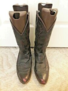 Dan Post USED Cowboy Boots Leather Western 11D Oxblood Brown* Biker Outlaw Farm