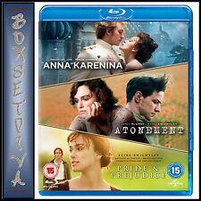 JOE WRIGHT TRIPLE PACK - Anna Karenina/Atonement/Pride and Prejudice *BRAND NEW
