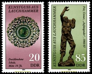 EBS East Germany DDR 1984 Art Casting from Lauchhammer - Michel 2874-2875 MNH**