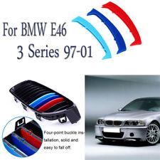 M Tech 3 Farbe 10 Lamellen Niere Kühlergrill ABDECKUNG für BMW 3er E46 1997-2001
