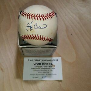 Autographed Baseball Signed Yogi Berra