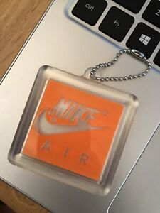 Nike Air Max Hang Tag 90 Retro Keychain Vintage Authentic Original (ORANGE)