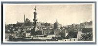 Egypte, Caire (القاهرة), Panorama de Caire  Vintage silver print. Postcard paper