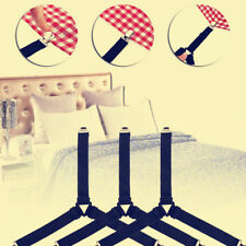4X Triangle Bed Mattress Sheet Tablecloth Clip Corner Straps Suspender Fasteners