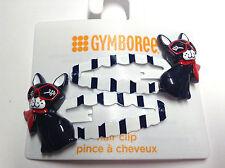 Gymboree Parisian Afternoon Line Hair Clips Barrette Snaps Dog Puppy W/ Glasses