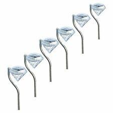 4 Pcs Led Solar Garden Diamond Light Outdoor Waterproof Pathway Lamp Lawn Yard