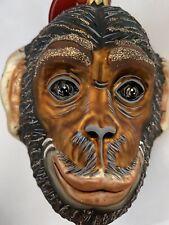 Chimpanzee Head Glass Ornament Slavic Treasures
