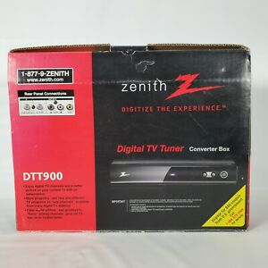 Zenith DTT900 Digital TV Tuner Converter Box with Cables & Remote