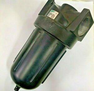 "Speedaire 6ZC28 Compressed Air Filter 1-1/2"" Metal Bowl 250 psi"