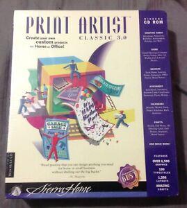 Sierra Home Print Artist Classic 3.0 Windows 95/3.1 CD-Rom New sealed & Unopened
