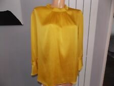 Dorothy Perkins Yellow Mustard Floaty Blouse Top Size 18