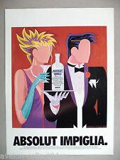 Absolut Vodka - Absolut Impiglia PRINT AD - 1993 ~ Giancarlo Impiglia