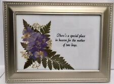 There's a special place in heaven for the Mother of Two Boys in 5 x 7 Rect Frame