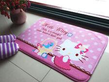 Cute Hello Kitty Cute Floor Mat Plush Rug Skidproof Door Mat Pink Bird