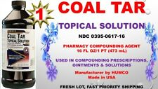 Humco Coal Tar Topical Solution (LIQUOR PICIS CARBONIS) 16 oz Exp. Date 08/2020