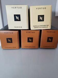 Nespresso Vertuo Vanizio, Vanilla Custard Pie,  Caramelizio Total 50 Coffees