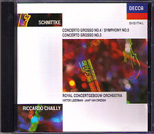 Riccardo CHAILLY: Alfred SCHNITTKE Concerto Grosso No.3 & 4 (Symphony 5) CD 1991