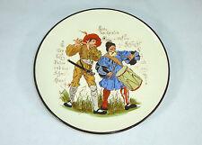 Seltener geritzer Teller mit Spruch um 1860 Keramik Mettlach / Sarreguemines ?