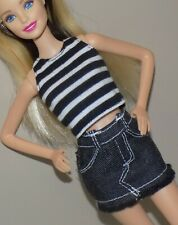 Barbie Outfit Top Jean Skirt Pockets Fits Fashionista Model Petite Teen Liv Doll