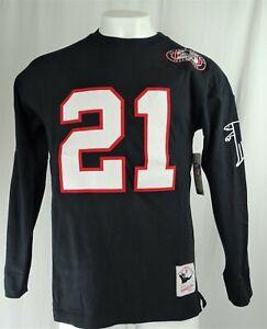 Atlanta Falcons NFL Mitchell & Ness Throwbacks '#21 Deion Sanders' Crewneck