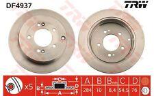 TRW Juego de 2 discos freno 284mm HYUNDAI GRANDEUR KIA OPIRUS DF4937